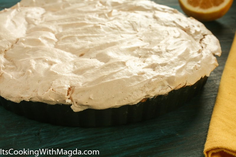 baked lemon meringue tart