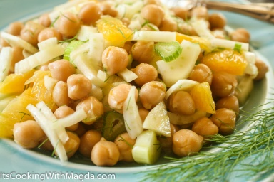 chickpeas, oranges and fennel salad