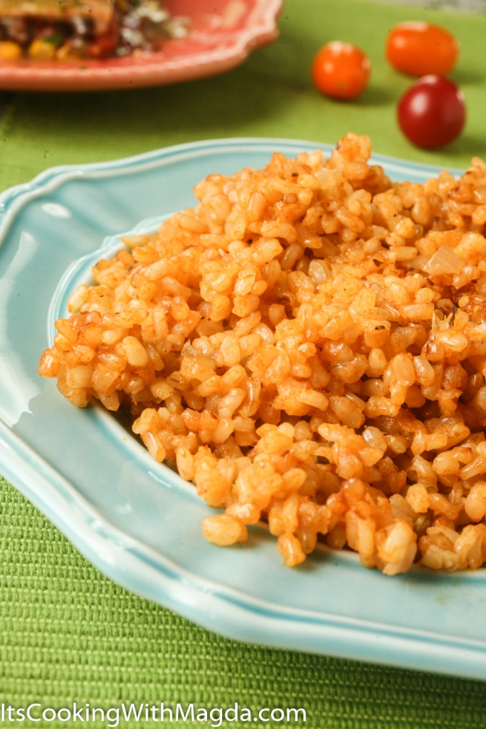 Spanish rice as a side dish