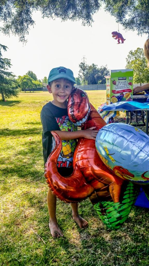 Dinosaur balloons