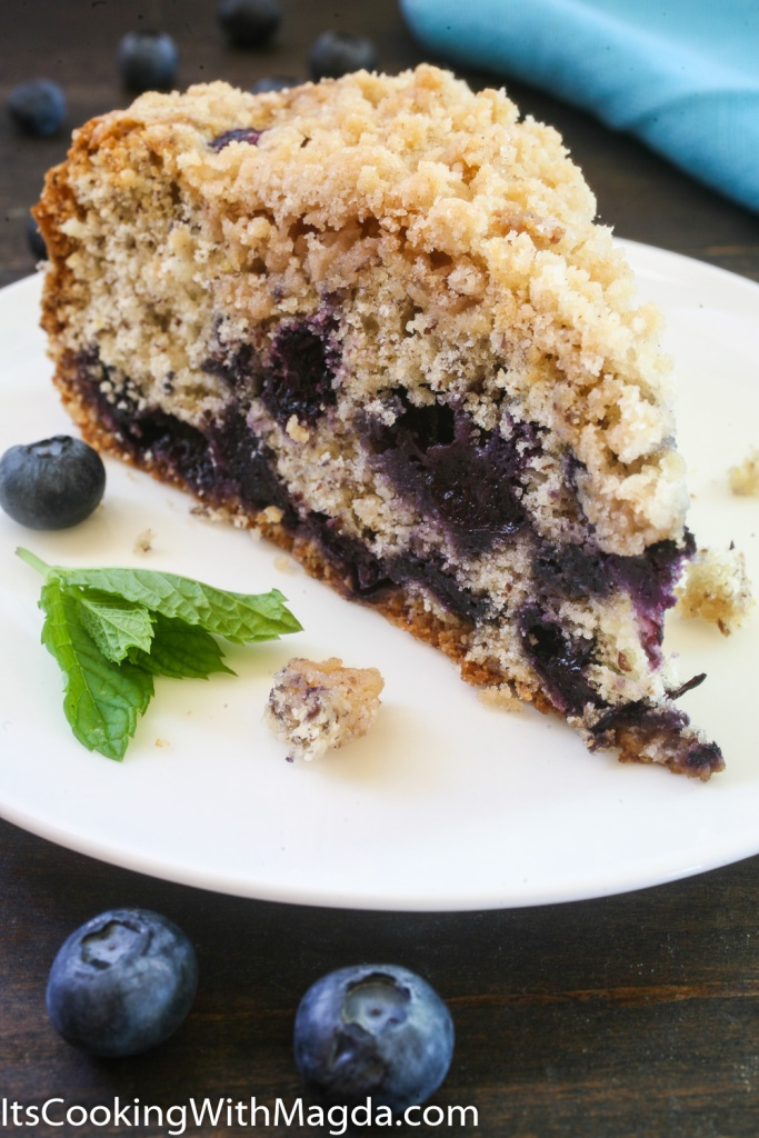 a slice of delicious blueberry pie