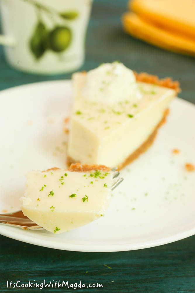 a bite of key lime pie