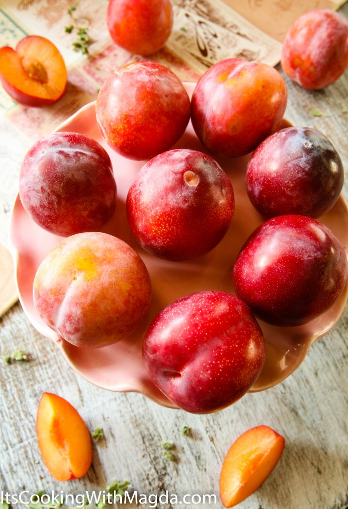 display of plums