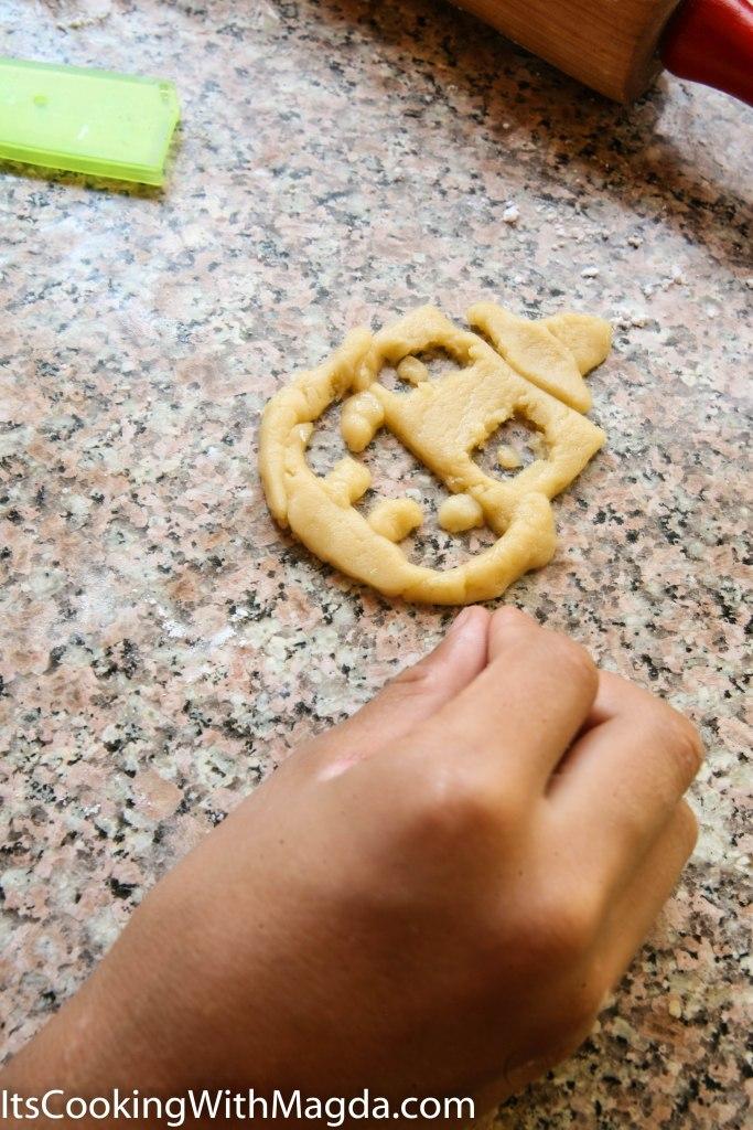 Child's cookie creation