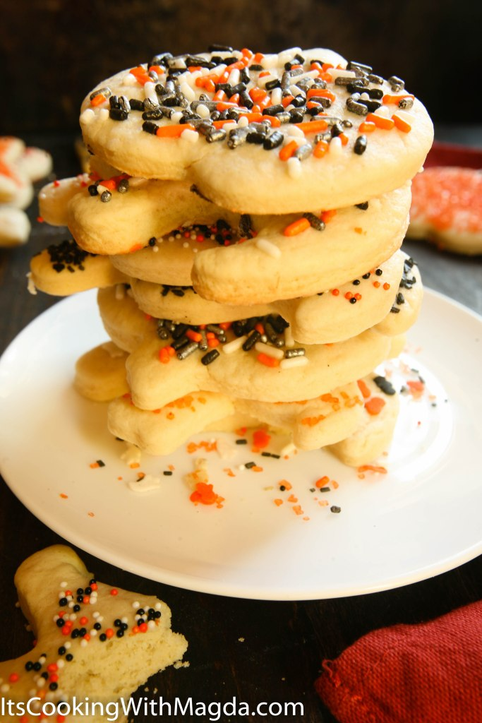 a pile of Halloween decorated cookies