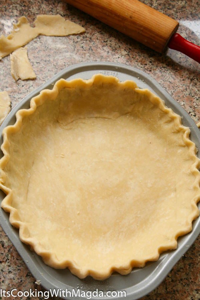Pie dough in a pie dish