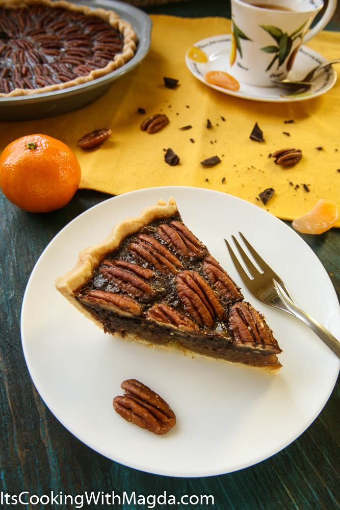 Pecan Pie with chocolate