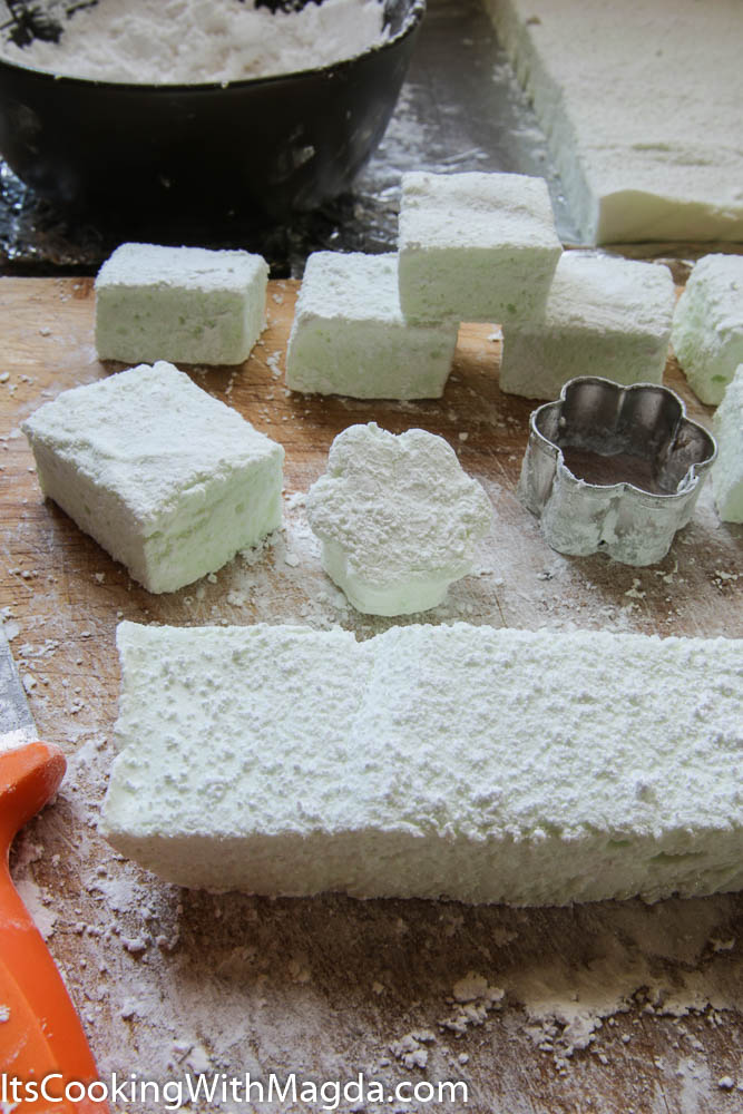 marshmallows cut into squares