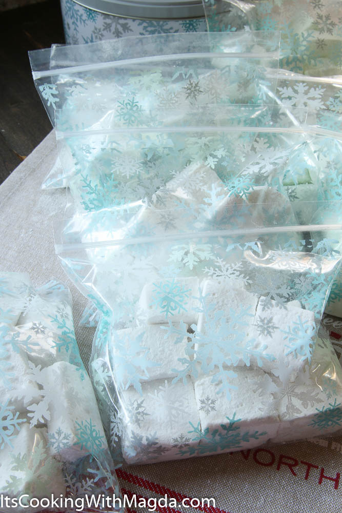 homemade marshmallows in goody bags