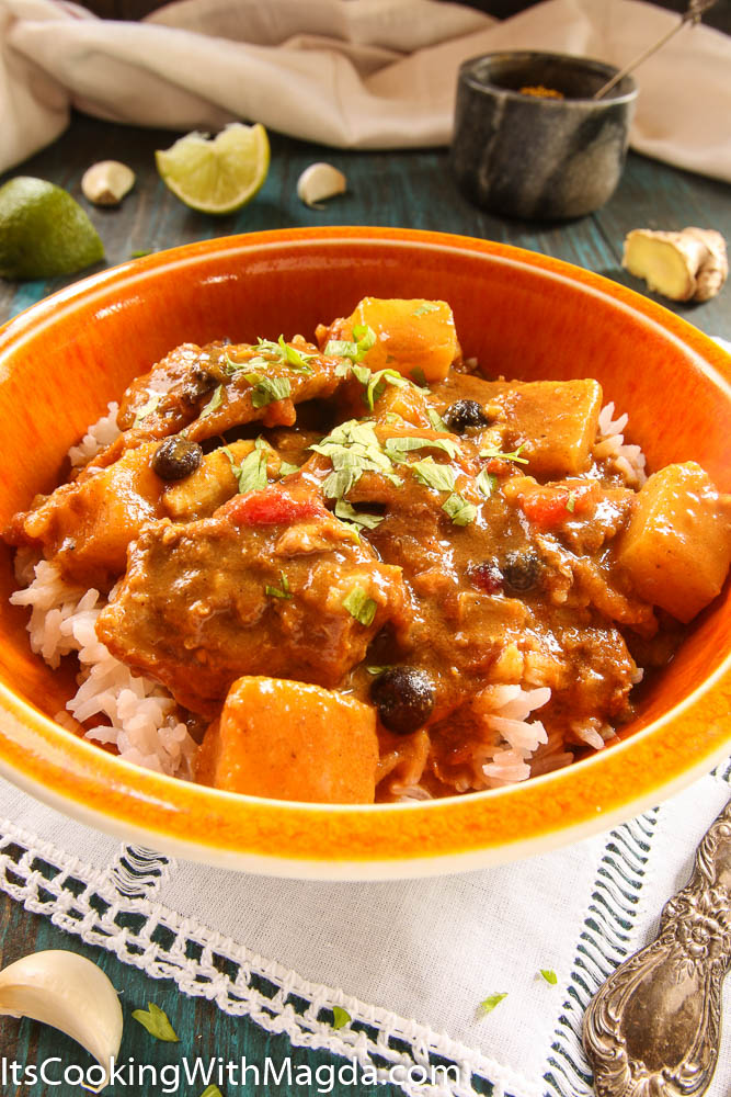indian chicken curry with pineapple