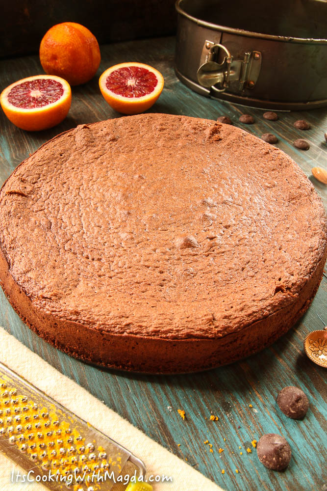 buckwheat chocolate orange cake
