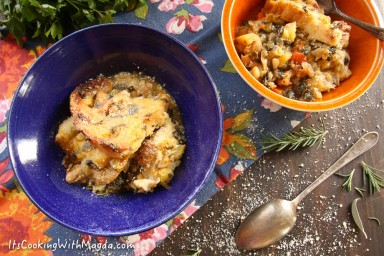 italian bread and vegetables soup
