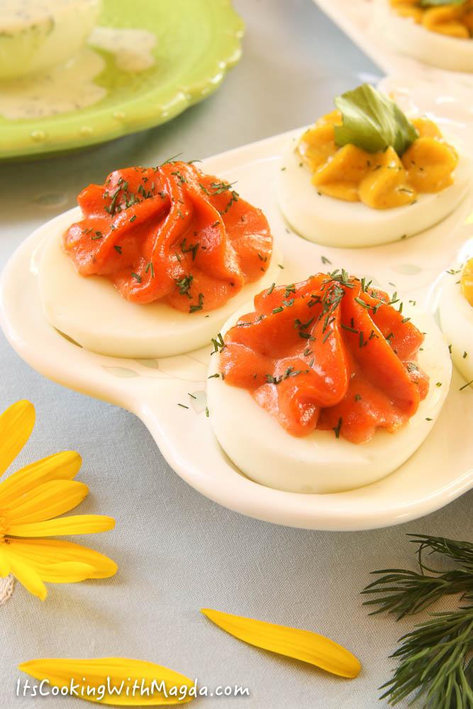 tomato cayenne pepper deviled eggs
