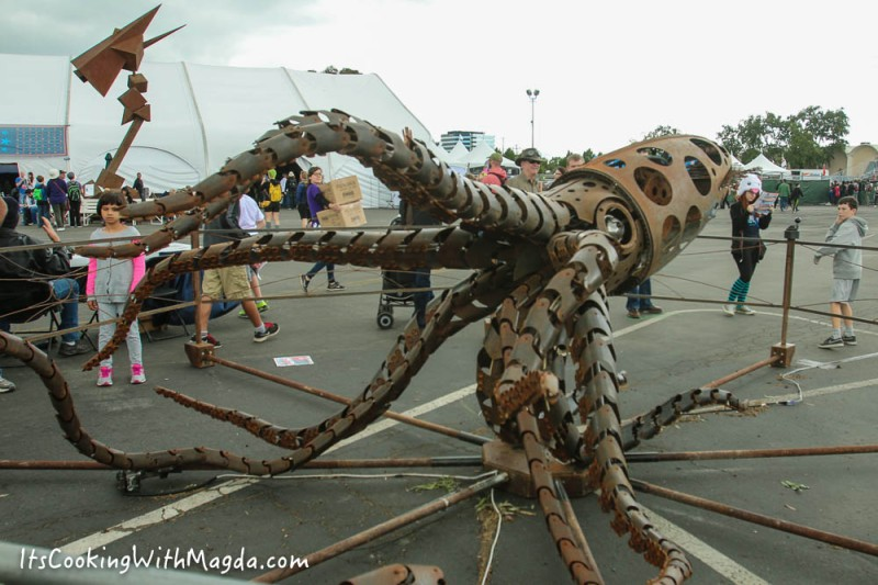 metal squid from Makers Faire