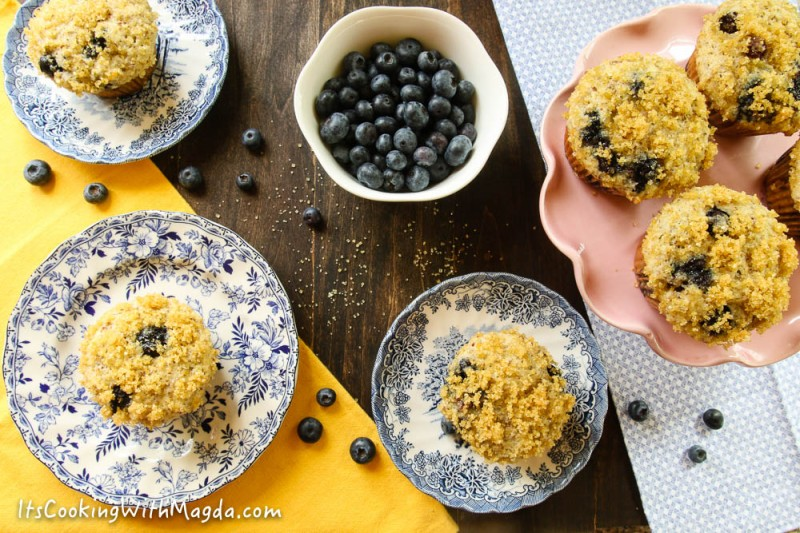 ricotta blueberry muffins